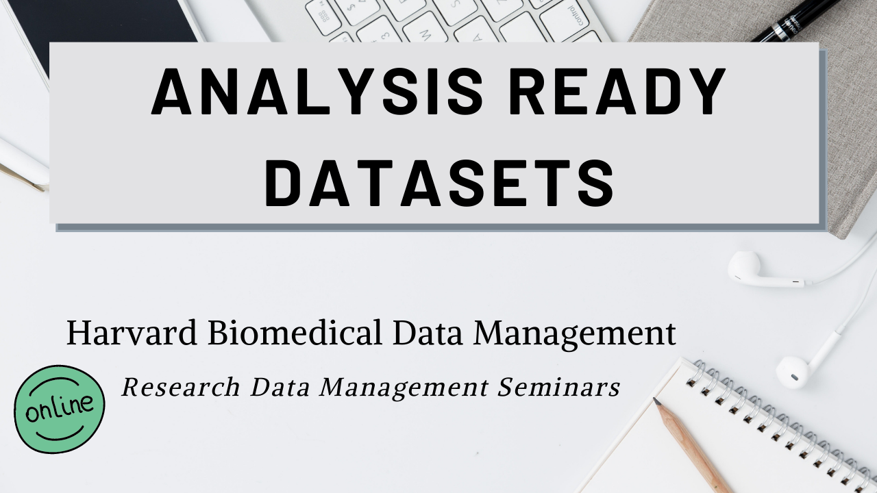 Analysis Ready Datasets