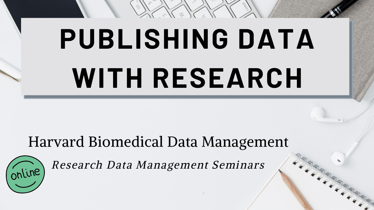 Publishing Data with Research